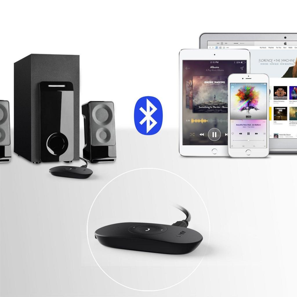 Receptor Bluetooth Aukey Portátil Recargable compatible con