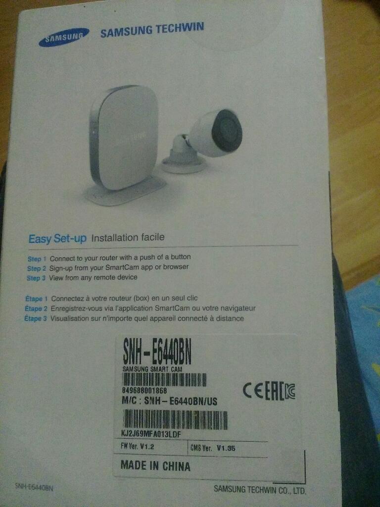 Vendo Camara de Seguridad Samsung Wifi