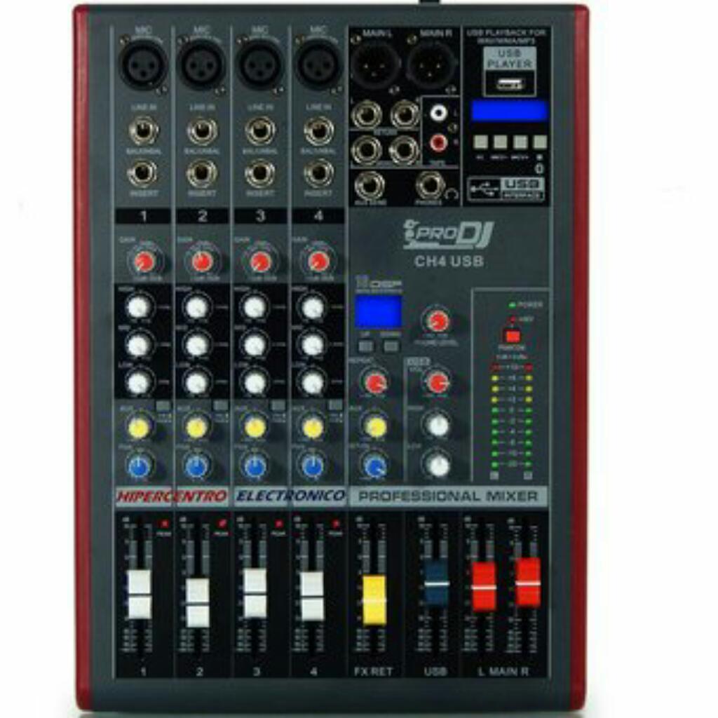 Consola de audio de 4 canales