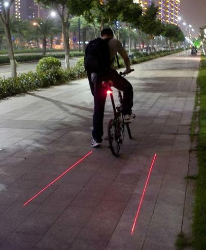 Luz Led Láser Trasera para Bicicleta Resistente Al Agua