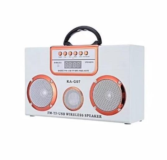 Radio Parlante Bluetooth Portátil FM USB KAG07