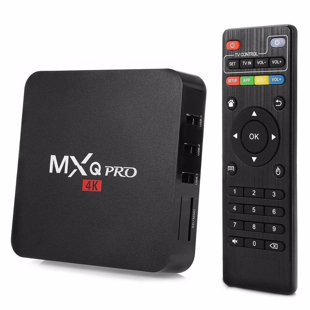 Tv convencional a Smart Tv Box Mxq Pro 4K Android 7 Memoria
