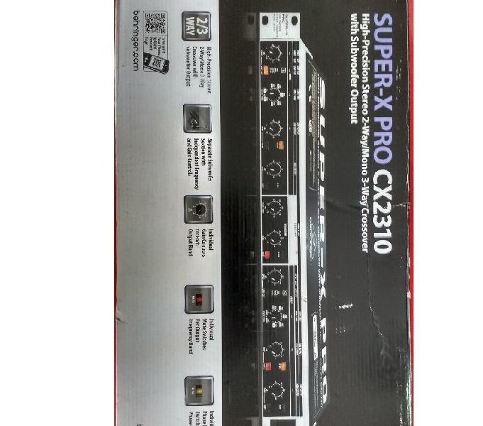 vendo crossover behringer SUPERX PRO CX2310 NUEVO