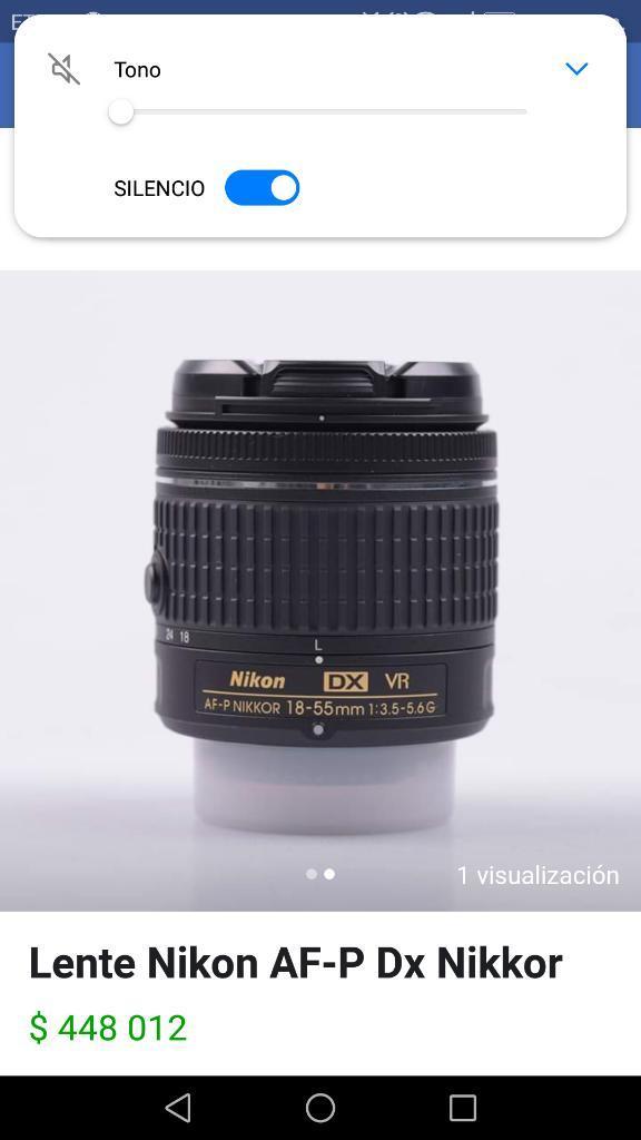 Lente Nikon Af—p Dx Nikkor