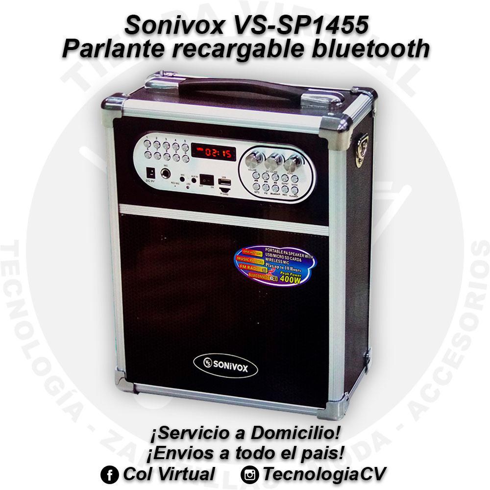 Parlante recargable bluetooth Sonivox VSSP R VP120