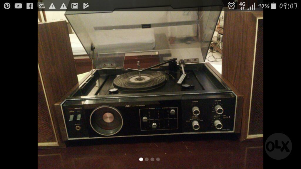 Vintage Radio Tornamesa Antiguo Jvc