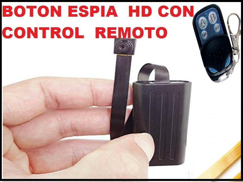 BOTON CAMARA ESPIA CON CONTROL REMOTO MODELO T186