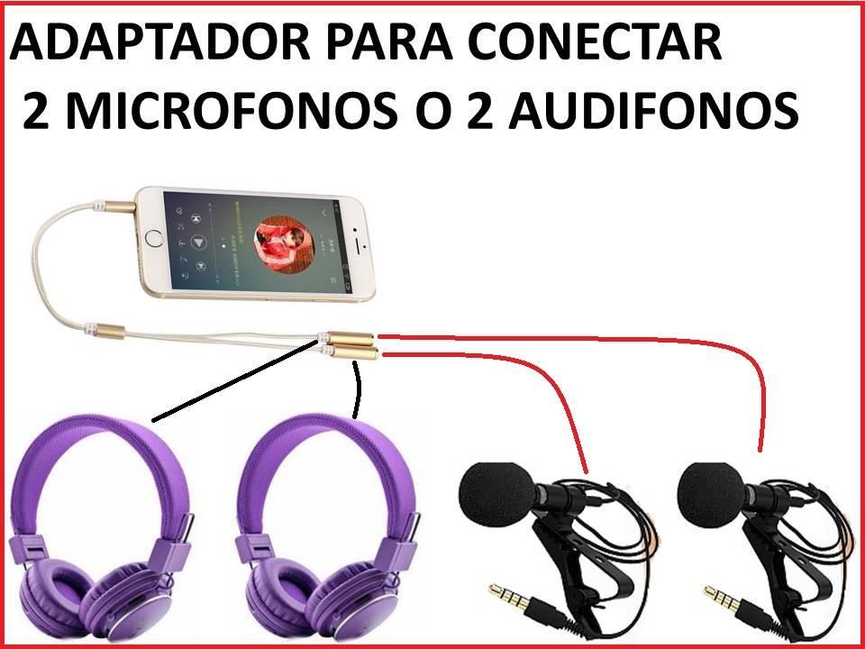 CABLE CONECTOR 02 MICROFONOS 0 02 AUDIFONOS PARA CELULARES