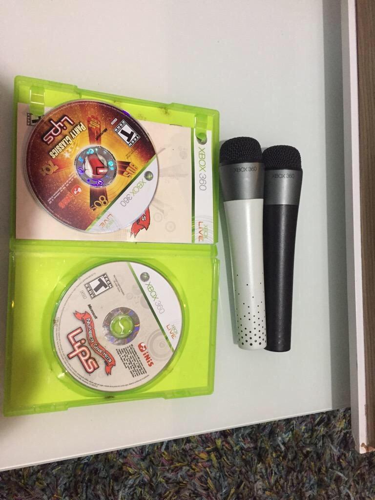 Microfonos para Xbox 360 con Dos Juegos