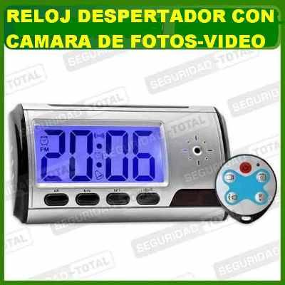 RELOJ DESPERTADOR CAMARA ESPIA CONTROL REMOTO FOTOS VIDEO A