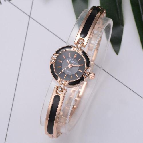Reloj Para Mujer Elegante Acero Oro Rosa - Detal Y Por Mayor