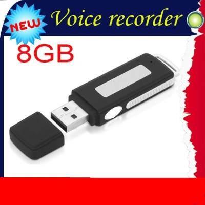 grabadora de voz audio tipo usb con 8 gb memoria