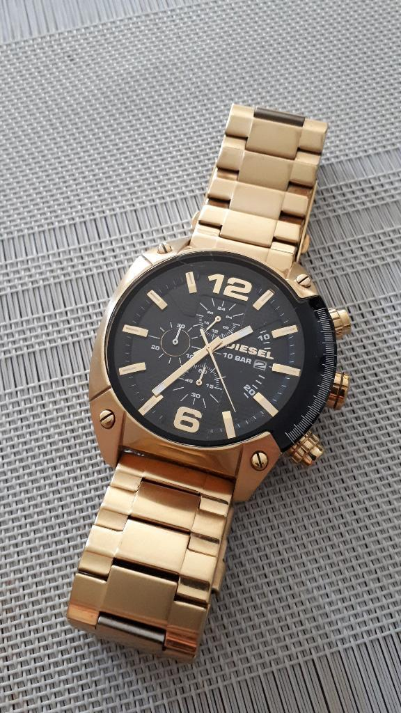 Reloj Diesel Dz Dorado Original