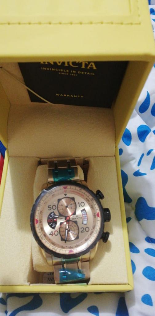 Reloj Invicta Elegante Y Casual Oro 18k