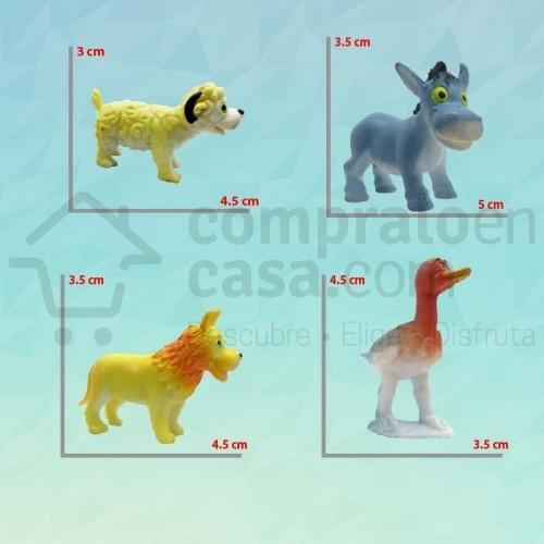 Estilo Cartoon X12 Animales Granja Figuras Decorativas