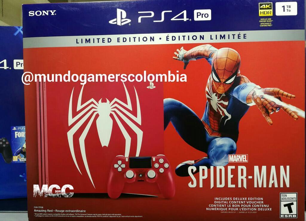 Ps4 Pro Spiderman Edition Playstation 4 Spider man Edición