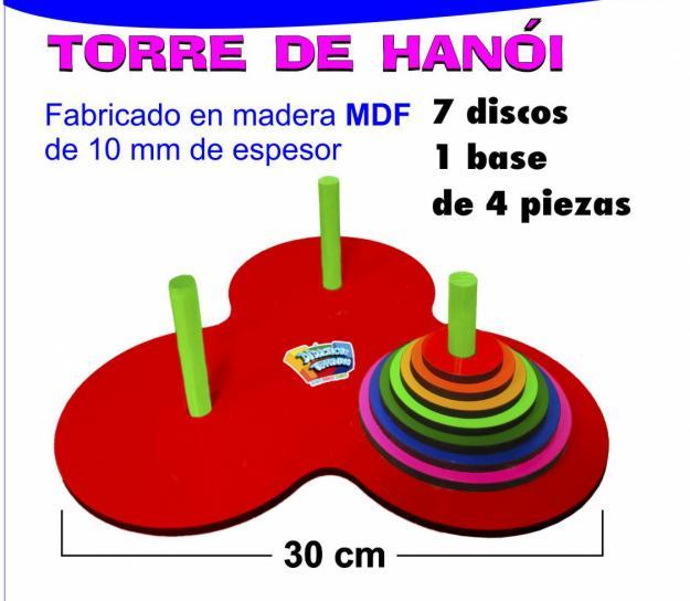Torre de Hanoi madera MDF