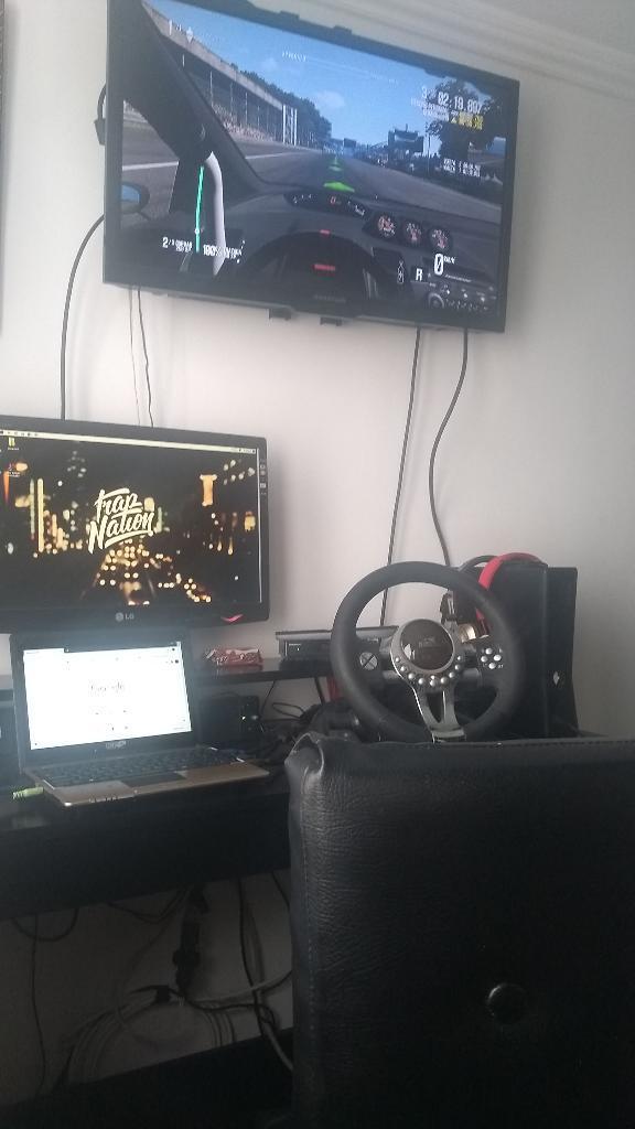 Volante Huskee para Xbox 360 Y Ps34