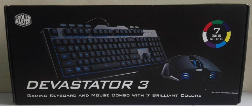 Combo Teclado Mouse Gaming Cooler Master Devastator Rgb