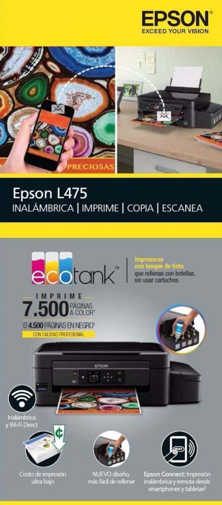 IMPRESORA EPSON MULTIFUNCIONAL ECOTANK L495