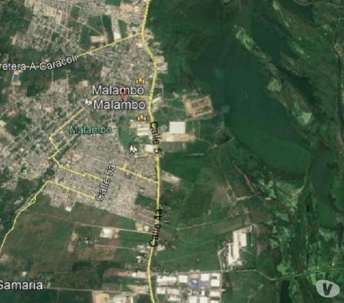 SE VENDE LOTE 92 HECTAREAS SOBRE ORIENTAL INDUSTRIAL MALAMBO