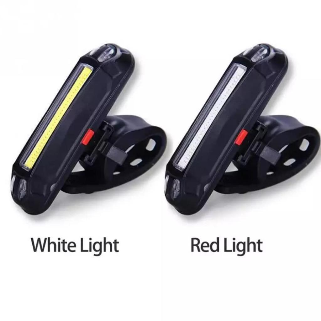 Luz Led Bicicleta Recargable Usb Roja
