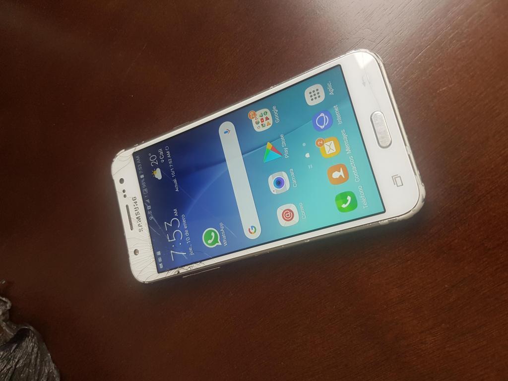 Samsung J5,doble sim activas y libres,de 16 GB,fisurado que