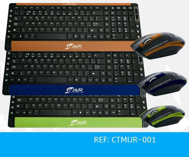 Mouse Teclado Multimedia Jr Ctmijr001 Combo Inalambrico