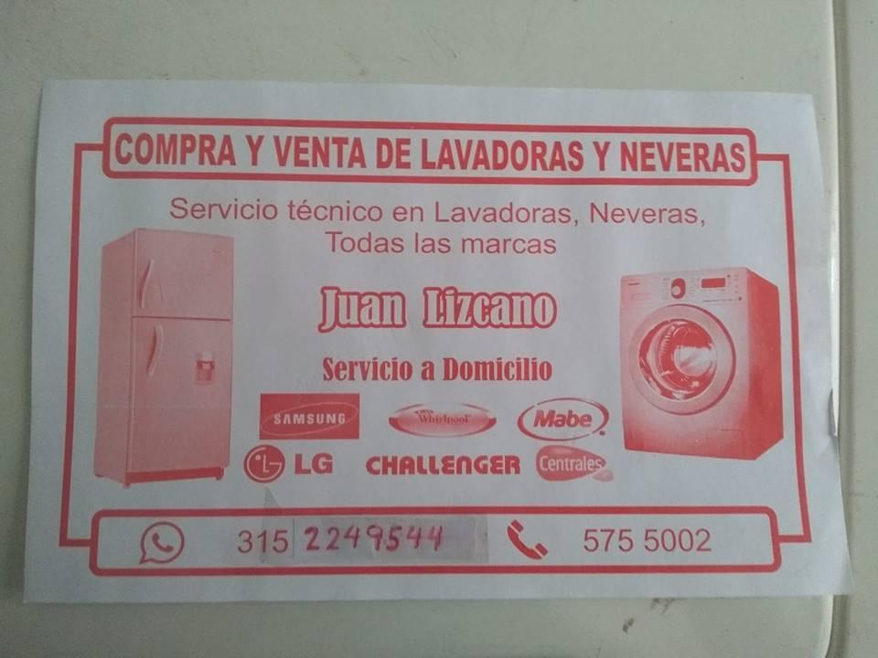 compra y venta de lavadoras y neveras dañadas y en buen