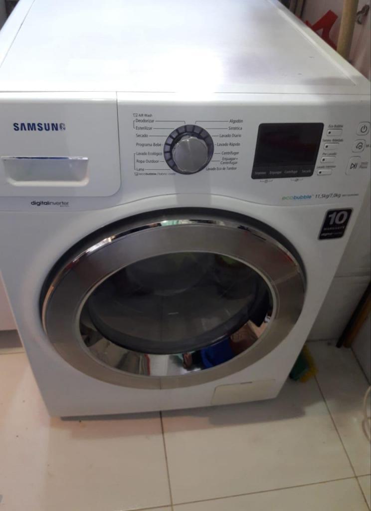 Lavadora/secadora Samsung Eco Bubble 11,5 Kg/7kg Buen Estado