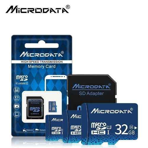 Memoria Micro Sd 32gb Clase10 Microdata Adaptador Y Obsequio