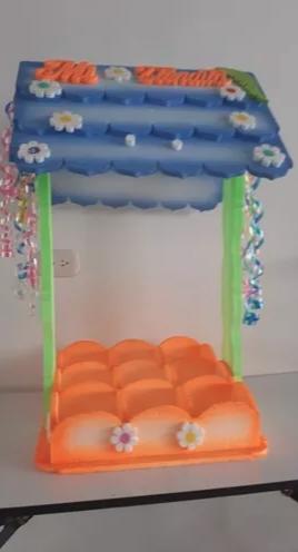 ★ Se Vende casita para fiestas en icopor 87x43x43 cms