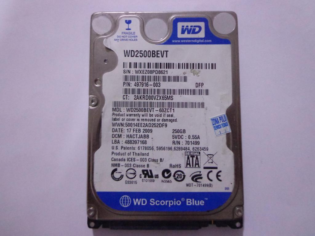 disco duro para portatil de 250 Gb