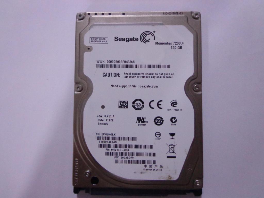 disco duro para portátil de 320 GB