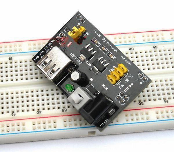 Fuente de alimentacion para protoboard arduino