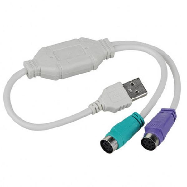Cable Adaptador Usb Macho A Ps/2 Ps2 Para Teclado Y Mouse