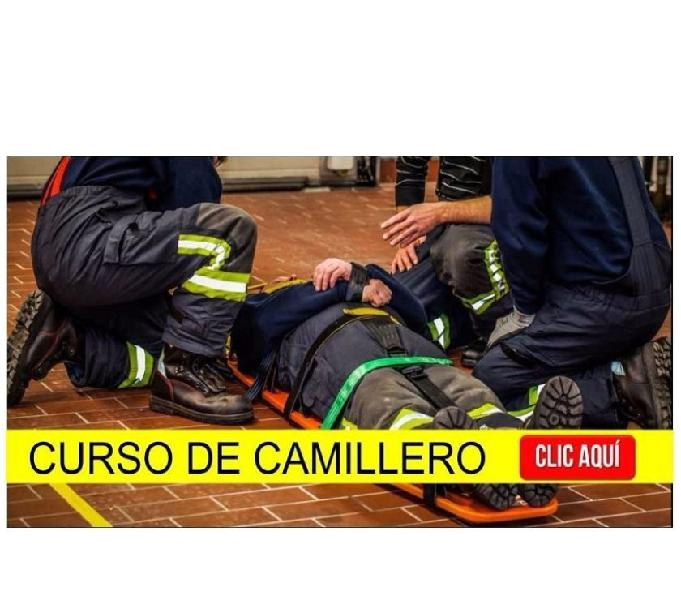 Curso de Camillero y Primeros Auxilios, certificado legal