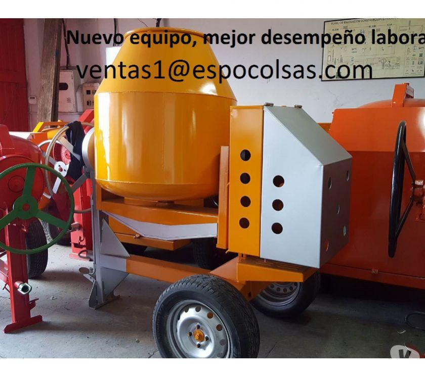 MEZCLADORA TIPO TROMPO MOTOR GASOLINA 9HP