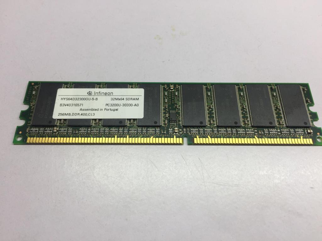 Memoria Ram Pc 256mb Ddr 400 Pc Infineon Usada