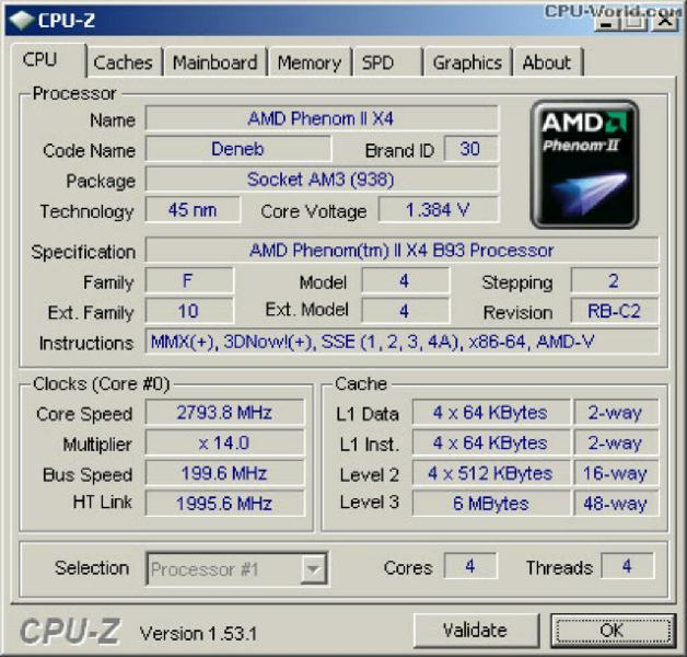 Procesador Amd Phenom Ii X4 B93