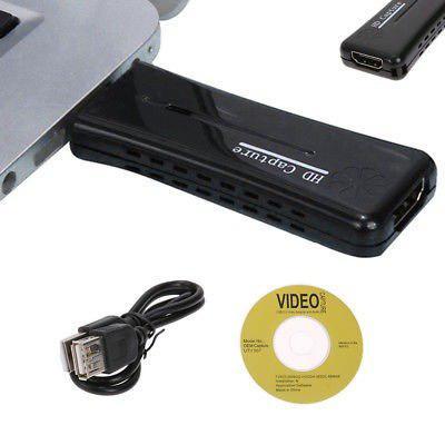Tarjeta De Captura Video Hd 1080p Hdmi Vga Usb 2.0 Para Pc