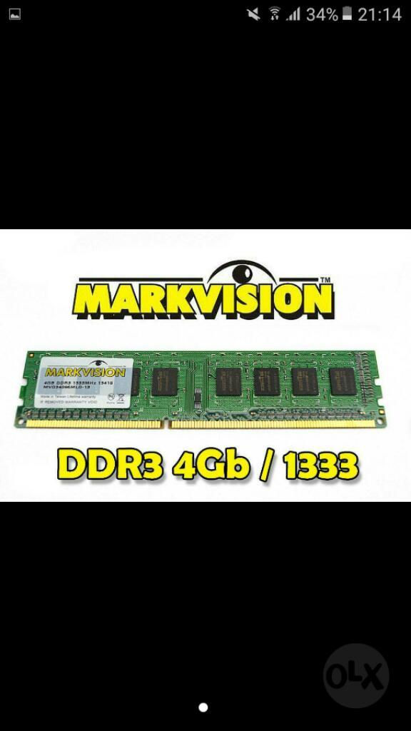 Vendo Memoria Ddr3 4gb para Pc de Mesa
