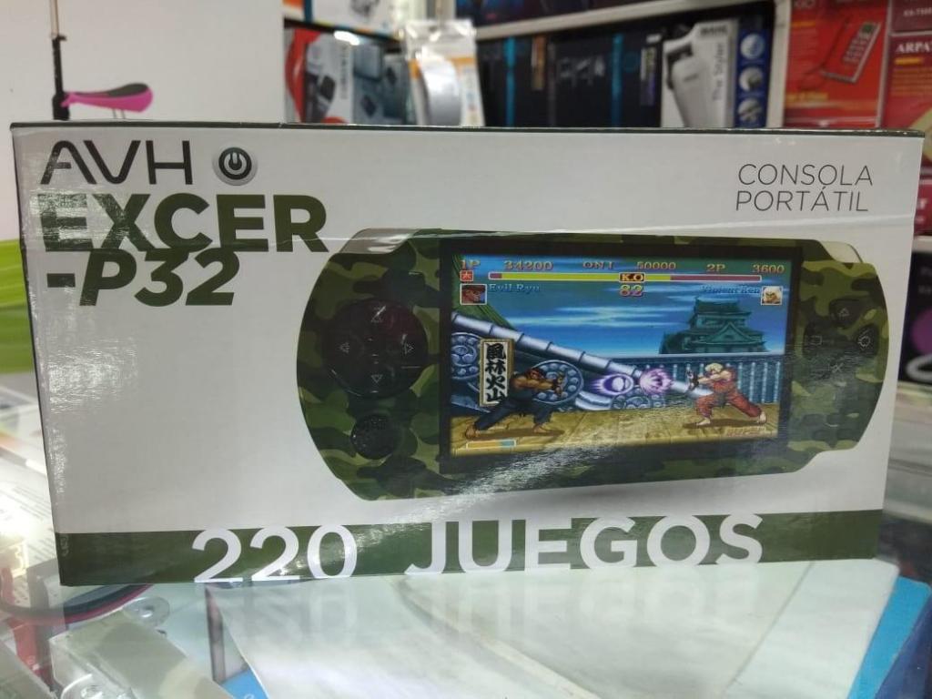 CONSOLA PORTÁTIL AVH EXCERP32 Incluye 220 JUEGOS