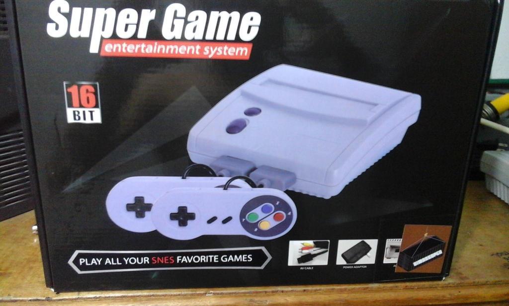 SUPER Nintendo Nueva con juegos incorporados