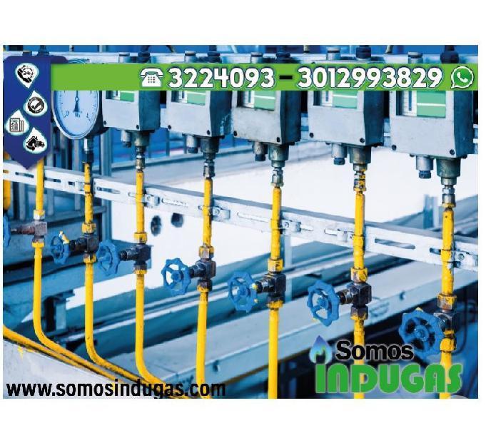 instalación de redes de gas