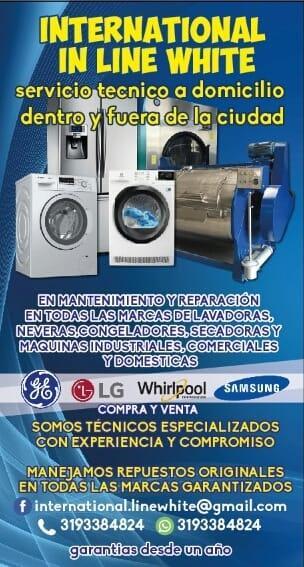 S.tecnico en Lavadoras Secadoras Neveras