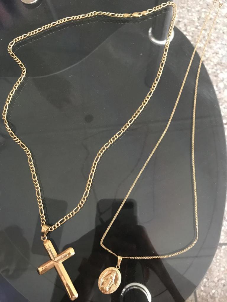 Cadena de oro 18k tipo tejido chino