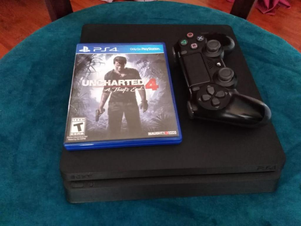 PlayStation 4 PS4 Slim 500GB, Control Dualshock, Juego