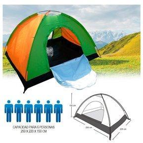 Carpa Camping Armable Para 6 Personas Amplia Y Cómoda