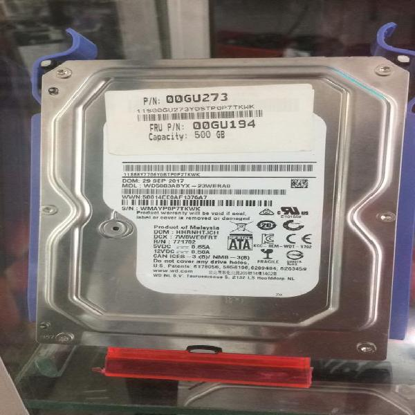 Disco 500 Gb Pc 3 Horas de Uso